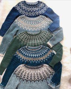 Knitting sweaters fair isles 56 new ideas Punto Fair Isle, Motif Fair Isle, Fair Isle Pattern, Fair Isle Knitting Patterns, Knit Patterns, Stitch Patterns, Pull Crochet, Knit Crochet, Crochet Granny