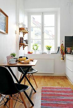 Küche Einrichten kleine küche einrichten schmaler raum offene regale home
