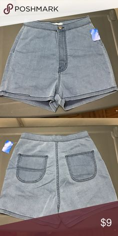 Brand New High waist denim shorts Never worn before: high waist denim shorts. Soft denim with a lot of stretch! If interested, please make me an offer! :-) aphrodite Shorts Jean Shorts