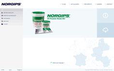 Norgips - projekt graficzny serwisu firmowego