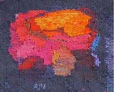 One of my favourite miniature tapestries woven in cotton and linen 5 x 6 inches