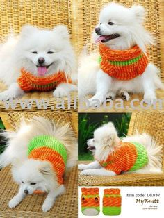 crochet patterns for miniature dogs | Free unique crochet dog sweater pattern design for small dogs