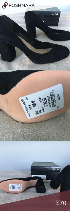 New Via Spiga Carment Suede Pumps Va-va-vaoom....  New Visa Spiga Carmen Suede Pumps.  Size 8M   Purchased last fall... Via Spiga Shoes Heels