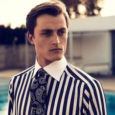 Bold Striped Contrast Collar Shirt - Slim fit | Eton Shirts Europe