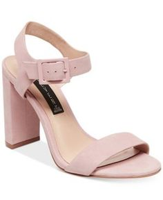 aea8dbc5eb84 Steven By Steve Madden Women s Eisla Ankle-Strap Sandals - Pink 7M Strappy  Block Heel