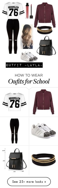 """""""Outfit for ~Layla~"""" by littledutchfashionista on Polyvore featuring New Look, Boohoo, adidas Originals, Jouer and Vita Fede"""