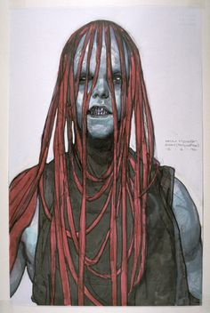 Concept Art of a Sith Created for Episode I - Iain McCaig