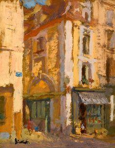 Walter Richard Sickert 1860 - 1942 A Street Corner, Dieppe