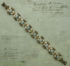 Linda's Crafty Inspirations: Birthday Bracelet 2 - Aster Bracelet