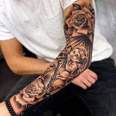 tattoo designs men sleeve / tattoo designs _ tattoo designs men _ tattoo designs for women _ tattoo designs unique _ tattoo designs men forearm _ tattoo designs meaningful _ tattoo designs drawings _ tattoo designs men sleeve Forarm Tattoos, Forearm Sleeve Tattoos, Dope Tattoos, Best Sleeve Tattoos, Body Art Tattoos, Sleeve Tattoos For Men, Male Tattoo, Rose Tattoos For Men, Hand Tattoos For Guys