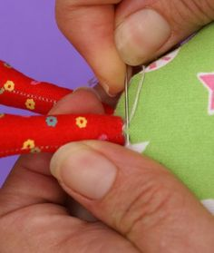 Fantastic tips on sewing up softies - shows techniques as well as stitch types