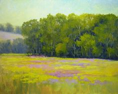 "Just finished this afternoon.  This is another view of the place where I was plein air painting last week.  I named it ""Endless"" because there are endless paintings in this field.... and everywhere.  So, always look behind you, in front of you, to the sides of you...there are endless paintings everywhere.  ©2012 Paula Ann Ford, Endless, Oils on Raymar panel, 8""x10"""