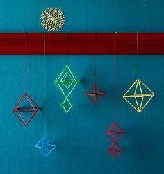 DIY Easy Himmeli, via Kotivinkii…. Crafty Fox, Object Drawing, Summer Crafts For Kids, Geometric Decor, Handmade Ornaments, Used Iphone, Christmas Inspiration, Craft Tutorials, Art Lessons