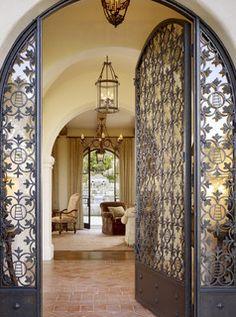 Spanish interior iron door