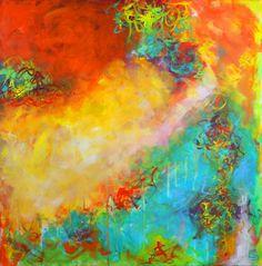 Kaleidoscope. 24 x 24. Acrylic Painting. by Christine Soccio