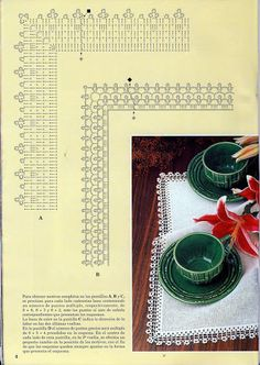 Crochet Knitting Handicraft: Samples and Special Reasons Lace 18 Filet Crochet, Crochet Motifs, Crochet Borders, Crochet Diagram, Crochet Round, Crochet Chart, Love Crochet, Thread Crochet, Crochet Trim