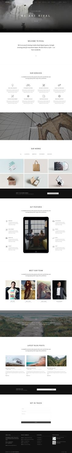 Rival is a One & Multi Page multipurpose, responsive #template. It contains 100+ pages and offers the best solutions for your business.  Rival has 10 multi-page and 10 one-page variants, 6 types of portfolio, 3 types of blogs, and 3 #restaurant pages a plurality of components, working contact form, and working subscription form integrated with Mailchimp. #webdesign