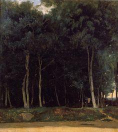 Fontainebleau, the Bas-Breau Road. Jean-Baptiste Camille Corot 1830-1835.