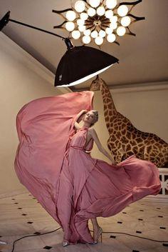 Madisyn Ritland Giraffe Camera Shoot for Vogue Hellas December 2010