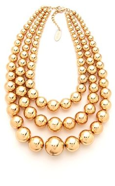 Adia Kibur Layered Ball Necklace on shopstyle.com