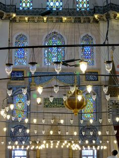 Magical lights of Istanbul mosque