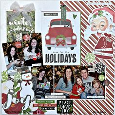 Home for the holidays - My Creative Scrapbook December 2017 Creative kit. Simple Stories - Very Merry Collection - Christmas