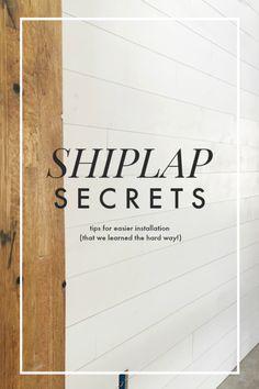 Tips for Installing Shiplap Walls — La Petite Farmhouse - shiplap wall secrets Gray Shiplap, White Shiplap Wall, Shiplap Ceiling, Faux Shiplap, Shiplap Diy, White Plank Walls, Shiplap Paneling, Planked Walls, Tips And Tricks