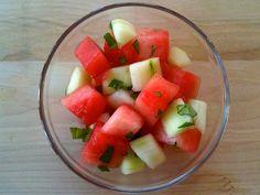 Chunky Watermelon and Cucumber Salad Recipe #stepbystep