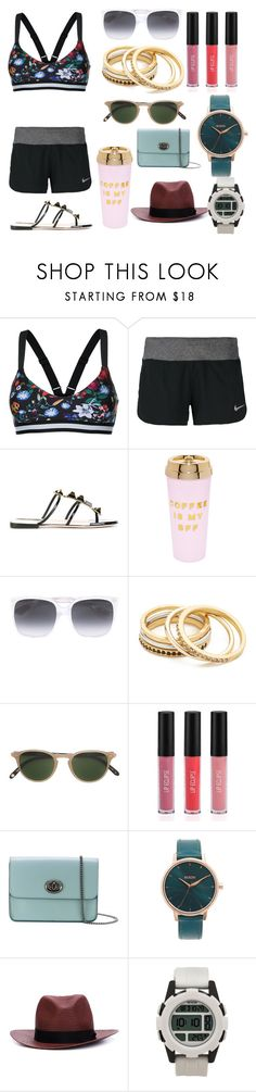 """""""Be who you are!"""" by gadinarmada-1 ❤ liked on Polyvore featuring The Upside, NIKE, Fendi, ban.do, Gucci, Madewell, Garrett Leight, Sigma, Coach and Nixon"""