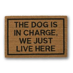 Our Aleta Greek Key Mat is hand woven of natural coir and stenciled in black using fade-resistant dyes. Cool Doormats, Funny Doormats, I Dont Know You, We Will Rock You, Cairn Terriers, Aleta, Dog Signs, Animal Signs, Coir
