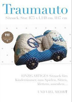 Sitzsack XXL ★AUTO canafas von Märchen von der Lichtfarbe WEISS❣ auf DaWanda.com