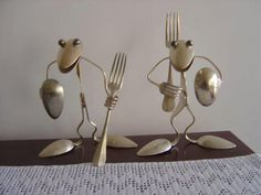 Prominent traveled awesome metal welding projects see this website Fork Art, Spoon Art, Metal Sculpture Artists, Steel Sculpture, Art Sculptures, Welding Art Projects, Welding Crafts, Metal Projects, Diy Projects