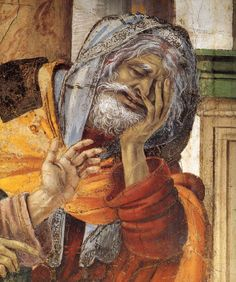 Filippino LIPPI, St Philip Driving the Dragon from the Temple of Hieropolis (detail) 1487-1502 Fresco  Strozzi Chapel, Santa Maria Novella, Florence
