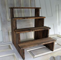 Rustic Cupcake Stand 4 levels By Foo Foo La La by FooFooLaLaChild