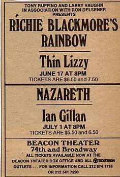 Rainbow tour poster