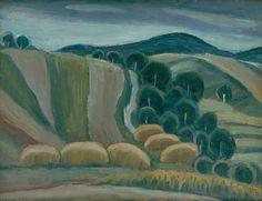 Ernest Zmeták: Krajina zo Šivetíc:1947 Milan, Painting, Author, Painting Art, Paintings, Painted Canvas, Drawings