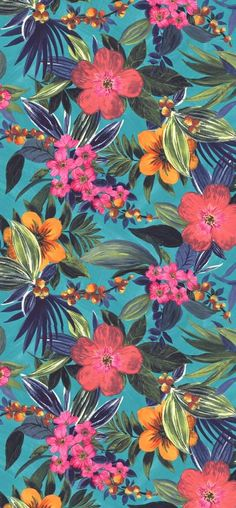 39 Ideas For Wallpaper Iphone Flowers Pattern Tropical Prints Frühling Wallpaper, Flower Wallpaper, Pattern Wallpaper, Tropical Wallpaper, Moana Wallpaper Iphone, Iphone Spring Wallpaper, Wallpaper Crafts, Bright Wallpaper, Trendy Wallpaper