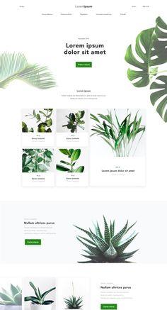 Webdesign, plants Website Design Inspiration, Design Blog, Ui Design, Layout Design, Branding Design, Minimal Web Design, Website Layout, Web Layout, Newsletter Design