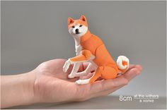 Realistic (BJD) Dog - Akita. Dog painted by hand. Akita has unique joints are firmly fixed! Doll polished and assembled on elastic thick. The muzzle