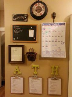 homeschool command center small spaces - Google Search