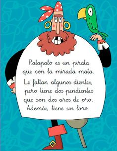 Anaya Educación Preschool Spanish, Summer Humor, Tongue Twisters, Baby Learning, Pirate Theme, Spanish Class, Too Cool For School, Kids Corner, Book Girl