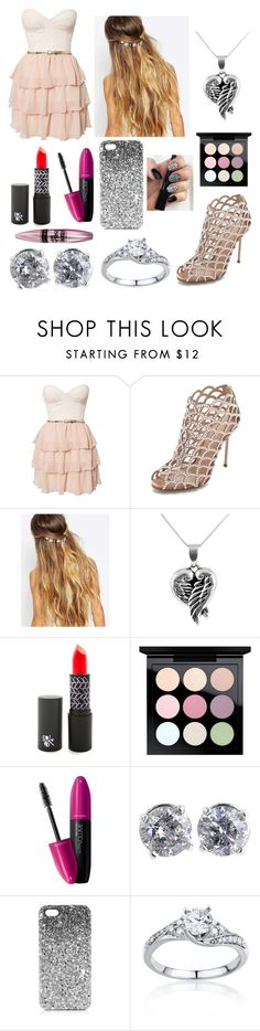"""""""I'm not complaining"""" by annawell-1 ❤ liked on Polyvore featuring beauty, Elise Ryan, Sergio Rossi, Johnny Loves Rosie, Jewel Exclusive, MAC Cosmetics, Revlon, Maybelline, Topshop and Belk & Co."""
