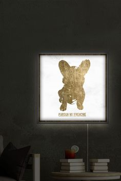 Pardon my Frenchie LED Canvas Lightbox by Oliver Gal Gallery on @HauteLook