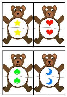 cheznounoucricri - Page 2 Bears Preschool, Preschool Learning, Kindergarten Math, Math Games, Preschool Activities, Shape Games, Bear Theme, Play Based Learning