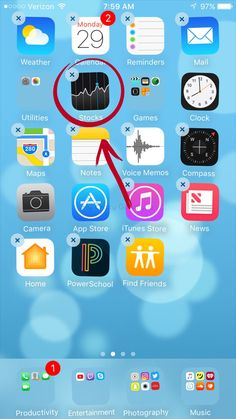 """In you can now delete those pesky Apple apps from your iPhone and no longer have to add them all to a folder called, """"Crap I Can't Delete. Smartphone Hacks, Iphone Hacks, Iphone 10, Iphone Codes, Apple Apps, Apple My, Find Friends, Homescreen, Fun Facts"""