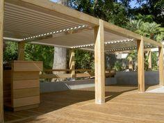 zonne terras met overkapping hout - Google zoeken