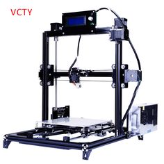 2016 LCD DIY 3d Metal Printer, Large Printing Size 3d-Printer Machine 3d Printer Kit With 2 Rolls Filament SD Card For Free