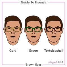 9fe74d0d3097 Brown Eyes With Gold Green And Tortoiseshell Glasses Guide
