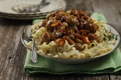Savory Beef and Beans in Wine Sauce from the Alberta Pulse Growers Website