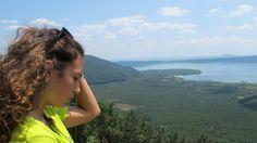 Panorama del lago di Vico dalla piattaforma per il deltaplano